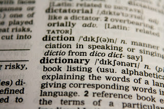 Photo of a page of a dictionary.