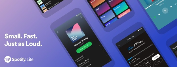 Spotify launches Lite version: takes up less space and has traffic limiting