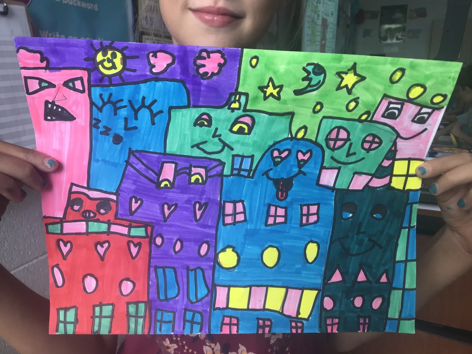 Elements of the Art Room: 3rd grade James Rizzi Cities!