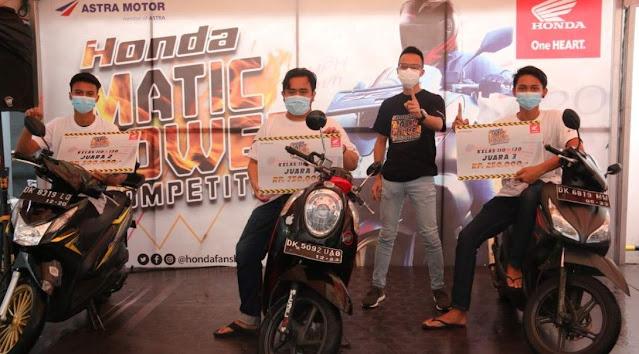 Juara Honda Matic Power Competition kelas 110-130cc