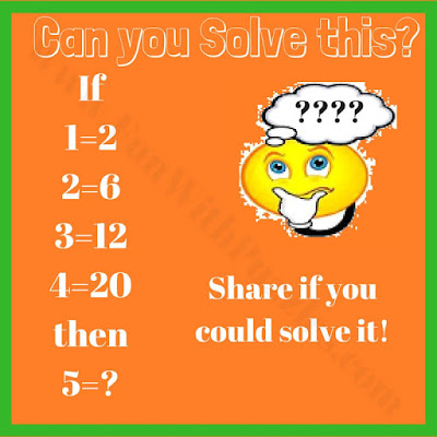Math logic equation puzzle question
