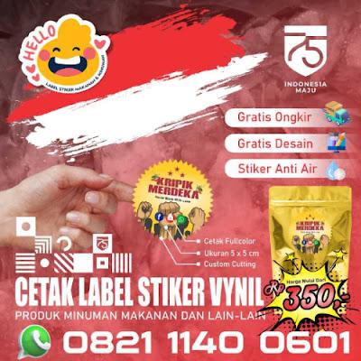 Label Stiker Print Makanan Minuman