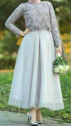 فستان سوارية محجبات بيبي بلو