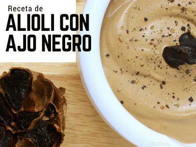 Receta de Alioli con Ajo Negro, para los amantes del ajo rica de sabor.