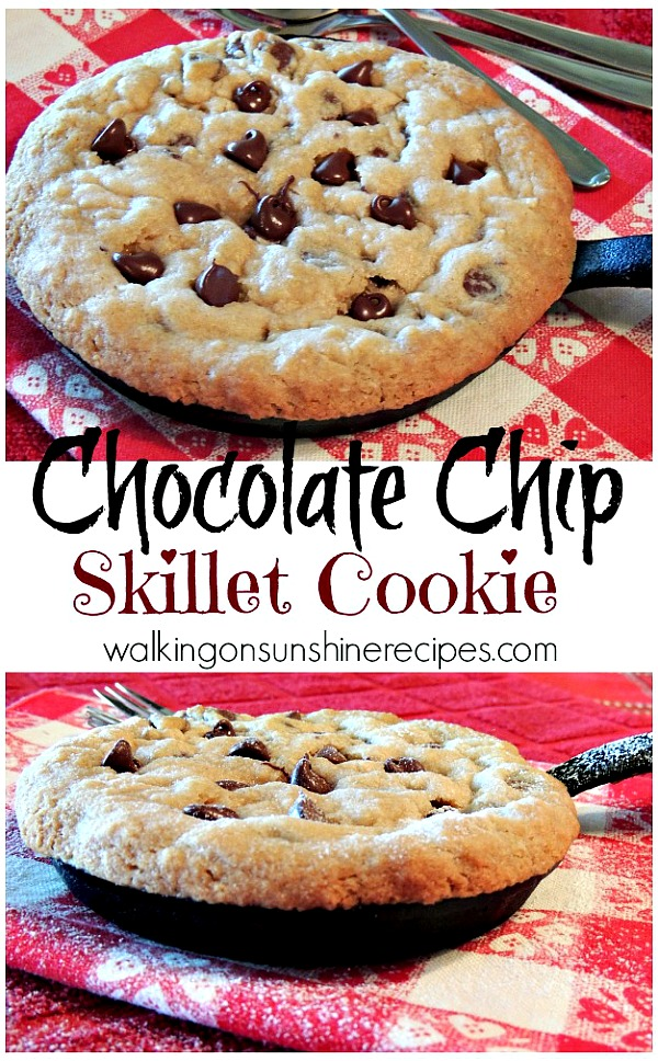 Chocolate Chip Skillet Cookie from Walking on Sunshine