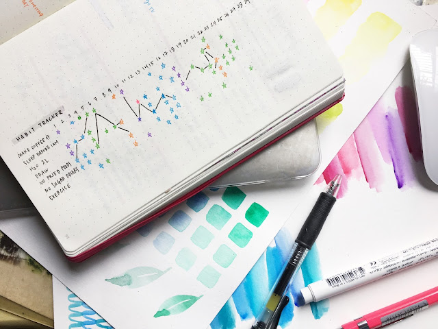 Leuchtturm bullet journal stars habit tracker