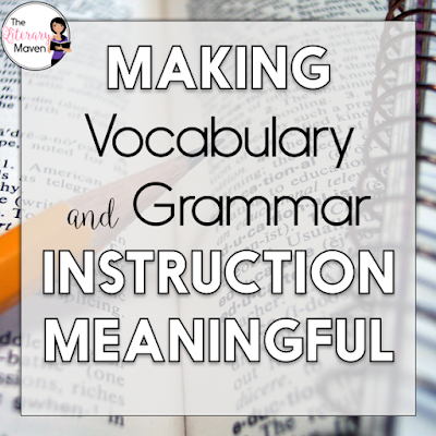 Having a strong vocabulary and a solid understanding of grammar will make students better readers and writers. This #2ndaryELA Twitter chat was all about vocabulary and grammar instruction. Middle school and high school English Language Arts teachers discussed how to integrate grammar into the rest of your curriculum and make lessons less boring. Teachers also shared .their approach to teach vocabulary and fun practice activities. Read through the chat for ideas to implement in your own classroom.