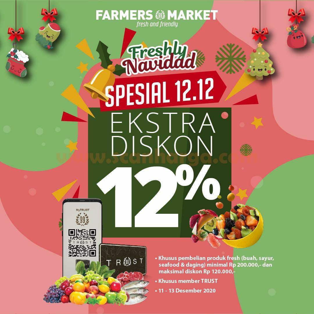 Farmers Market Promo Spesial 12.12 - Ekstra Diskon 12% untuk Produk Fresh
