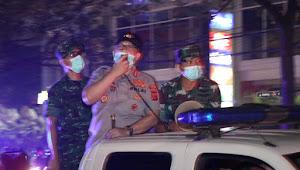 Polrestabes Bandung Patroli Gabungan Cegah Covid19 Terapkan Social Distancing