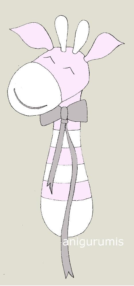 Equipo de sonido amigurumi con patrón Jirafa