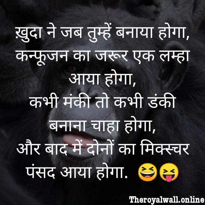 Funny shayari on friendship