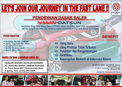 Loker Kupang Marketing di Nissan Datsun Kupang