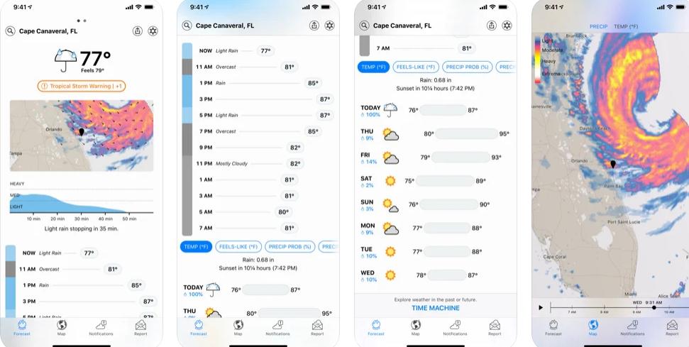 آبل: استخدام تطبيق الطقس في iOS 15