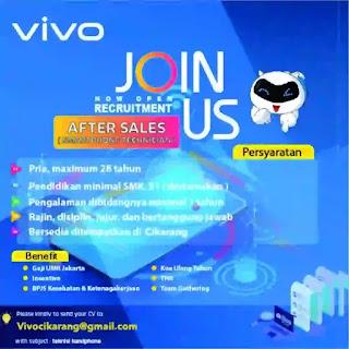 Info Loker After Sales (Smartphone Technician) Vivo Cikarang 2019