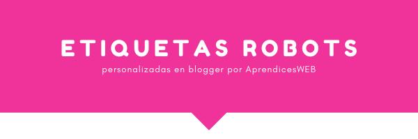 Portada de Etiquetas de títulos robots en blogger