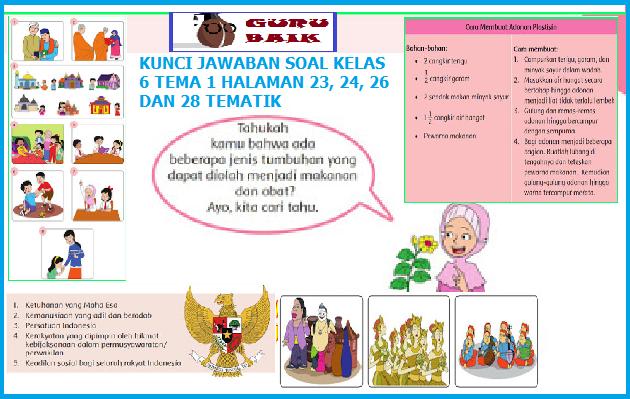 Pembahasan Soal Dan Jawaban Buku Siswa Kelas 6 Tema 1 Halaman 23, 24, 26 dan 28
