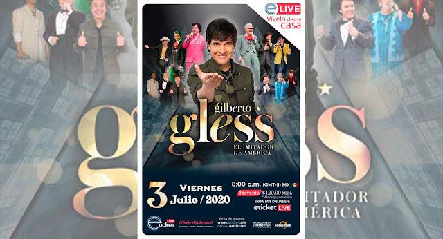 Gilberto Gless presentará show virtual en vivo imitando mas de 15 voces