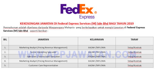 Federal Express Services (M) Sdn Bhd.