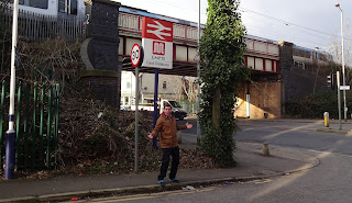 Train nerd Richard Gottfried at East Didsbury railway station
