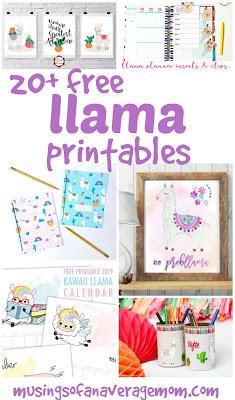 free llama printables