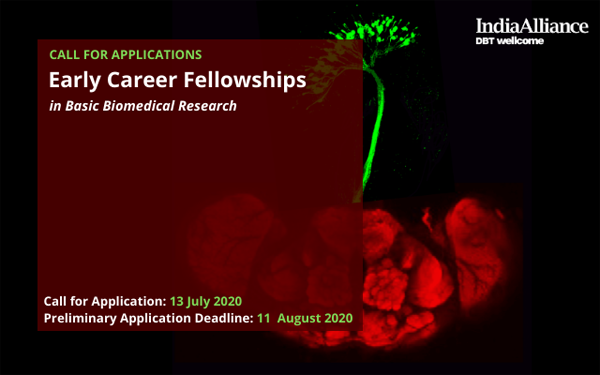 DBT/ Wellcome Trust Call for Applications: Early Career Fellowships in Basic Biomedical Research