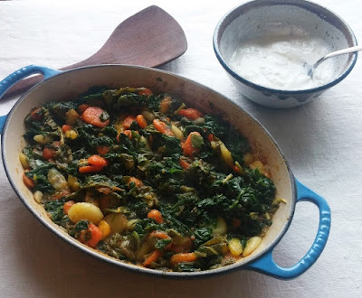 Carrots with Sorrel & Spinach