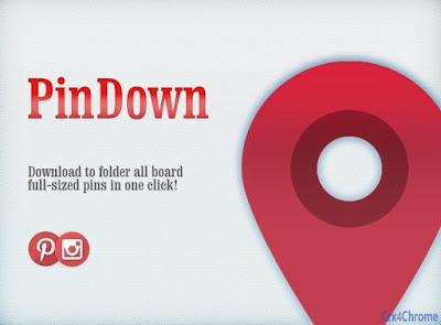 mendownload gambar dengan extensions pindown free