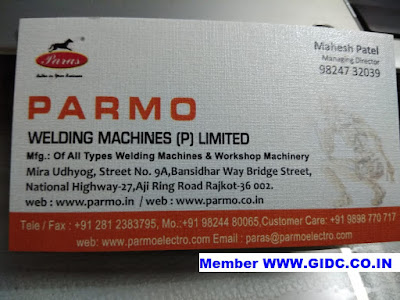 PARMO WELDING MACHINES PVT LTD