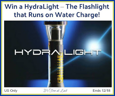 Enter the HydraLight Water Flashlight Giveaway
