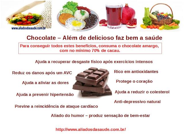 Chocolate -  Ajuda o coração e ainda a combater o stress