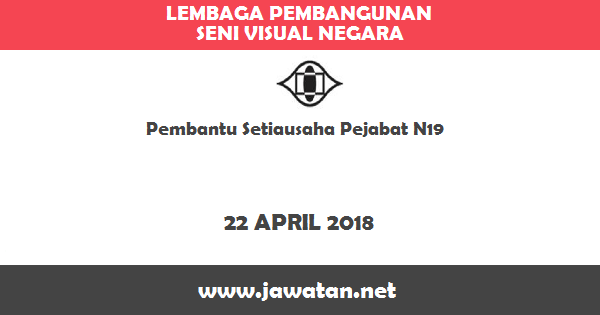 Job in Lembaga Pembangunan Seni Visual Negara (22 April 2018)