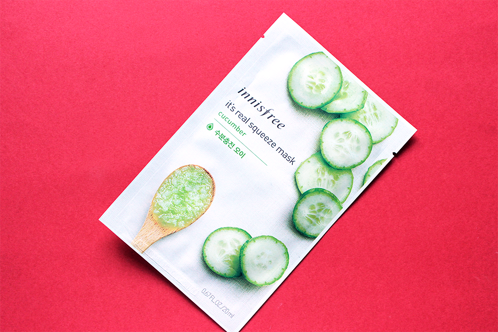 Innisfree It's Real Squeeze Mask Cucumber review