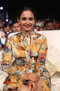 Actress Rakul Preet Singh Stills in Short Dress at Dhruva Pre Release Function  0061.JPG