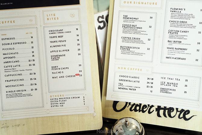 Harga dan menu Blanco Coffee Yogyakarta