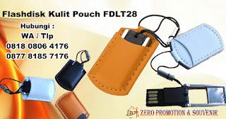USB Leather Pouch FDLT28, Flashdisk Kulit Mini Pouch, Flashdisk Kulit Pouchy, Souvenir USB Flashdisk Kulit ( FDLT28 ), USB Metal Mini dengan Kantong