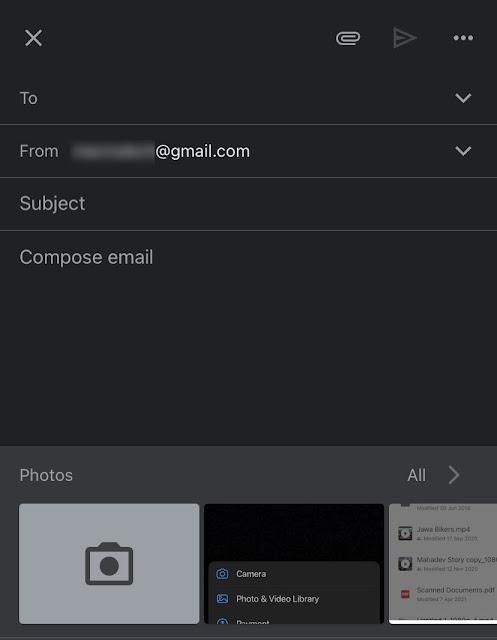 Send photos via email