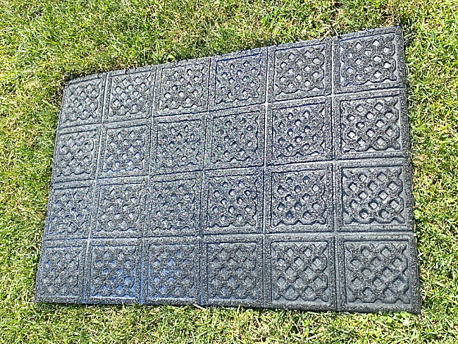 painted outdoor mat