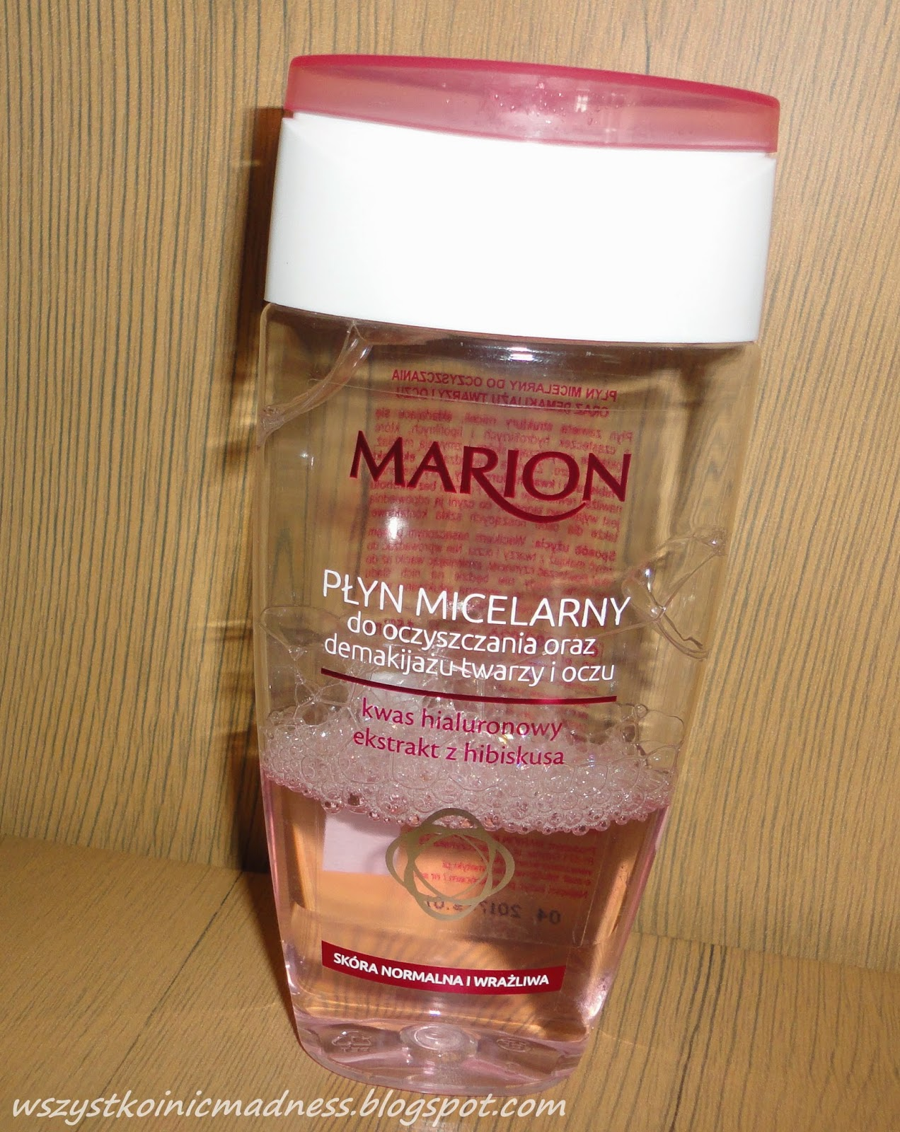 Marion płyn micelarny kwas hialuronowy i ekstrakt z hibiskusa