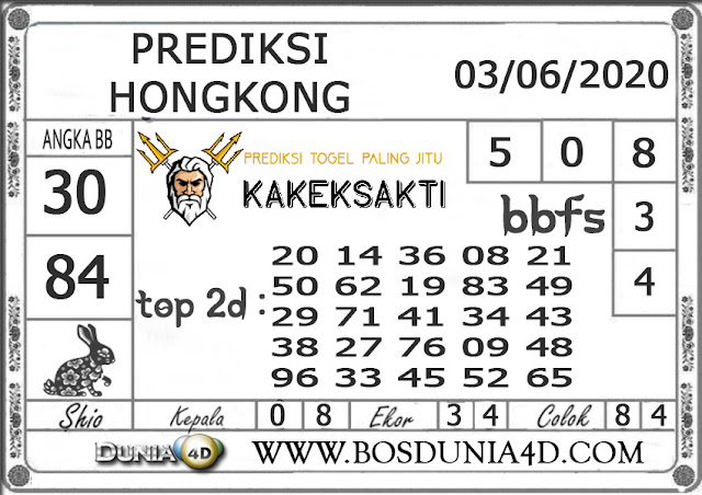 Prediksi Togel HONGKONG DUNIA4D 03 JUNI 2020