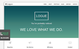 Logue One-Page blogger template