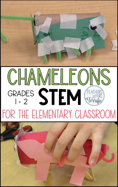 Reading and STEM! This blog post suggests five picture books to use with STEM challenges for first and second grade. Included are materials and procedures! #teachersareterrific