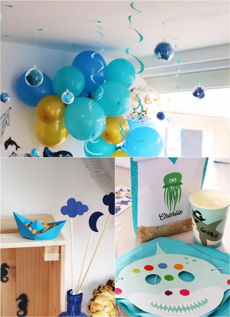 Idées Anniversaire DIY Sous La Mer - décorations faciles, recettes fait-main, photobooth, gâteau format poisson et d'autres idées à réproduire à la maison!
