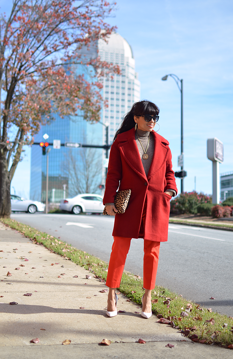 Red with orange street style