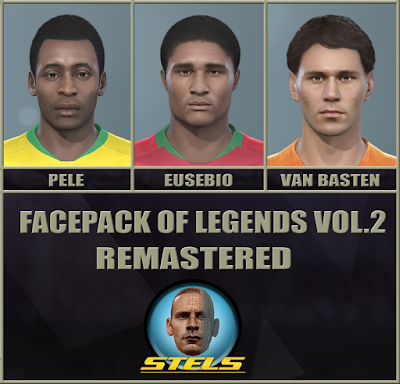 PES 2019 Facepack Legends v2 Remastered by Stels