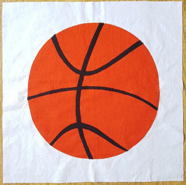 Basketball quilt block | DevotedQuilter.com