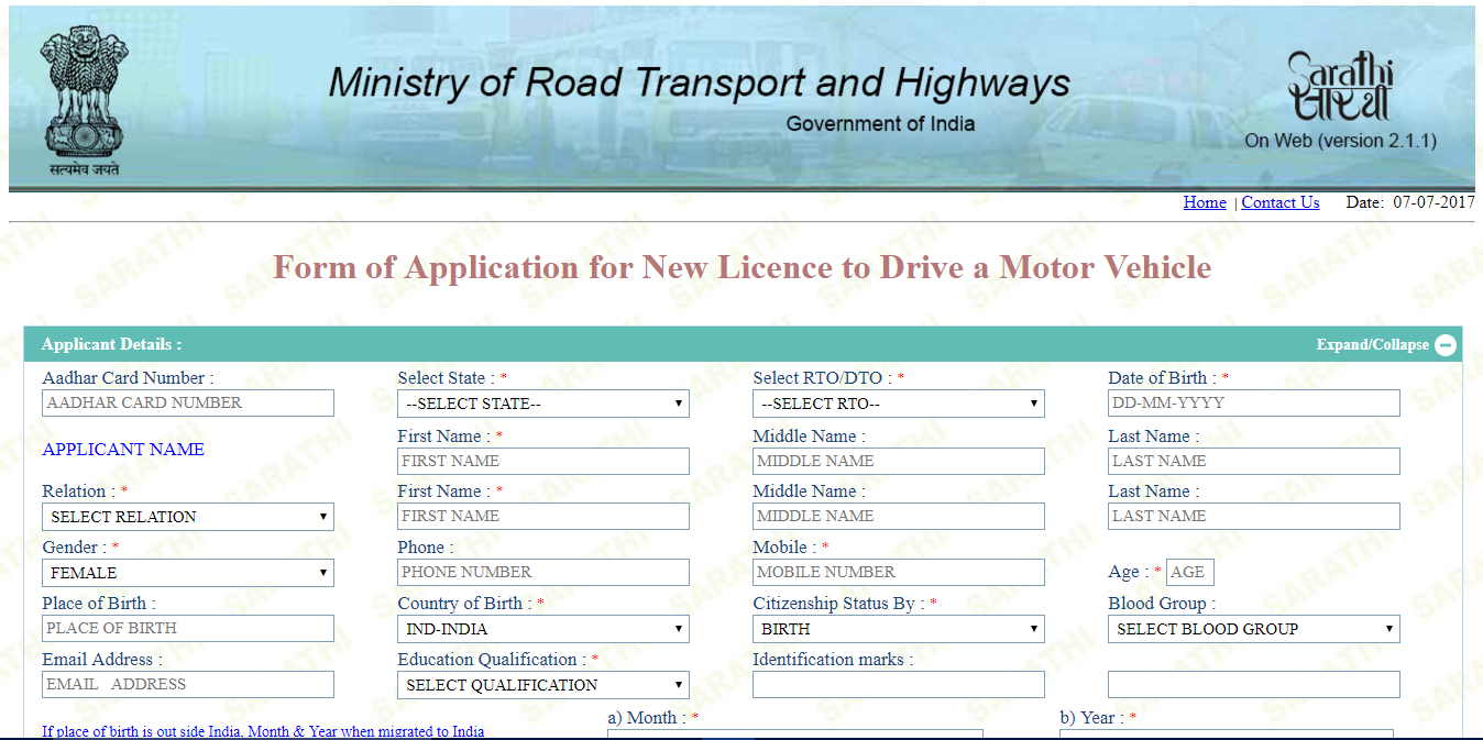 How to apply for driving license online in karnataka for Documents required for driving license