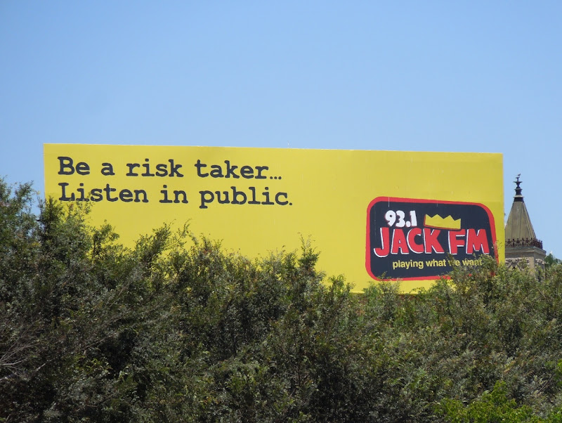 Jack FM risk taker billboard