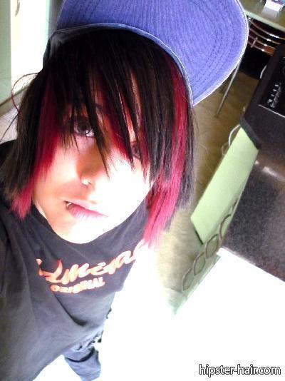 Emo Girl Wallpaper 2012 Scene Haircuts Red And Black Emo