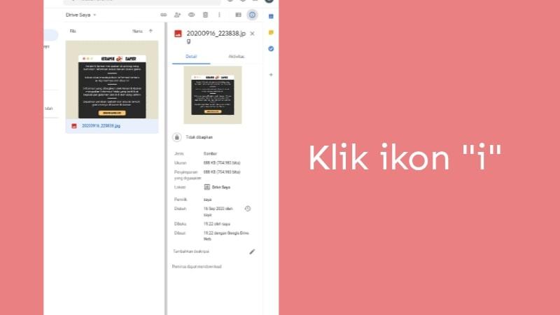 Cara menambahkan deskripsi pada file google drive