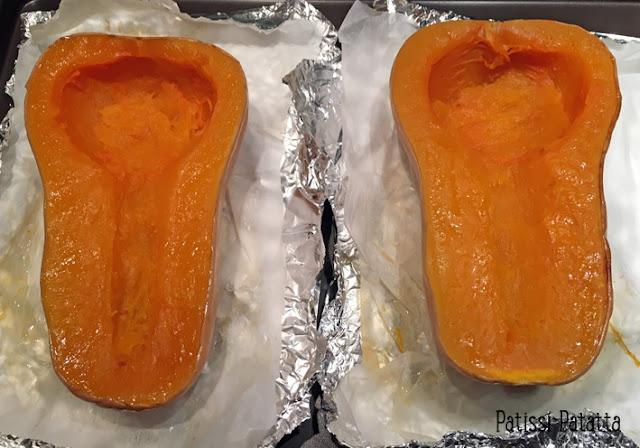 recette d'oeuf dans la butternut, courge butternut farcie à l'oeuf, courge butternut farcie, plat principal, cuisiner la courge butternut, cuire la butternut, plat d'automne, oeuf en cocotte de butternut, butternut au four, cuisson courge butternut au four, patissi-patatta